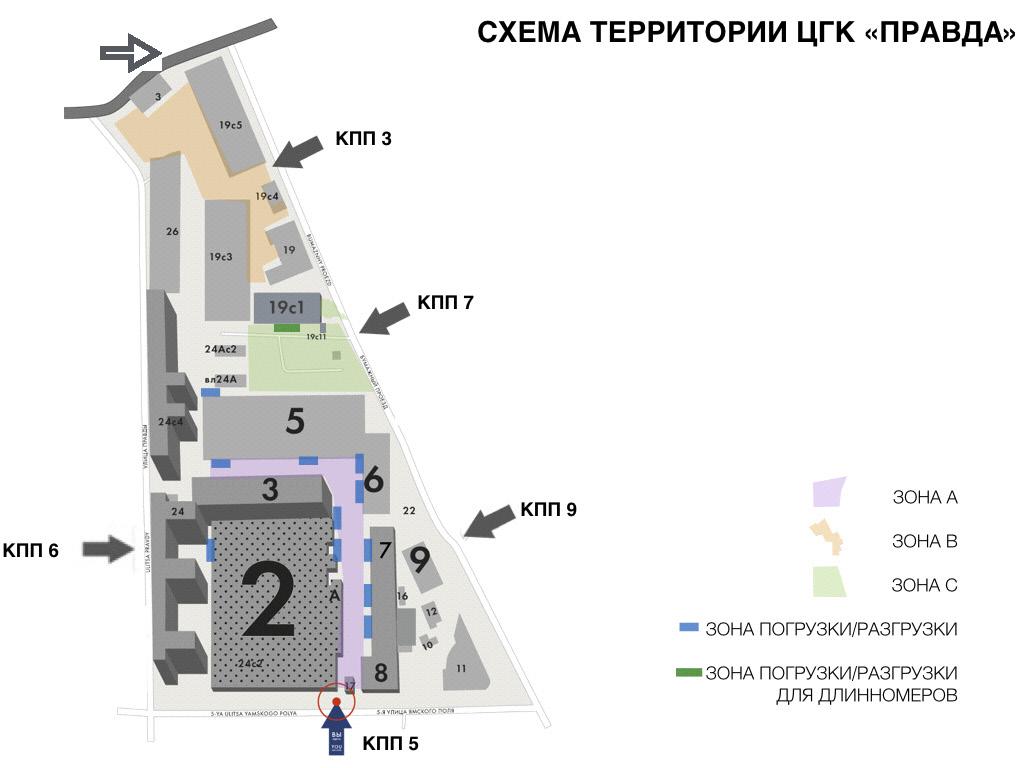 Карта ЦГК Правда